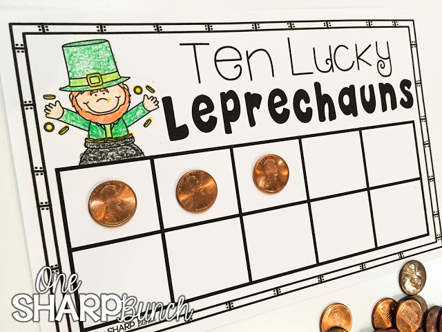 Looking for some great St. Patrick's Day books and a variety of engaging St. Patrick's Day activities for the primary classroom?! Grab a St. Patrick's Day FREEBIE perfect for the story Ten Lucky Leprechauns! Plus, we share some great St. Patrick's Day ideas for your math centers and literacy centers!