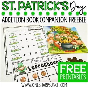 St. Patrick's Day Activities: Ten Lucky Leprechauns Freebie