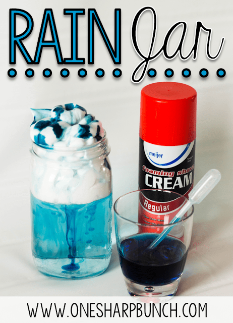Teach your kindergarten students all about rain and clouds using this rain experiment for kids! Perfect for a rainy day this spring, or as a complement to your weather activities! Follow these super simple steps using common household items!
