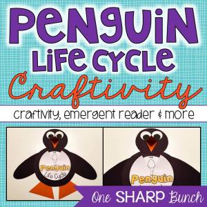 This Penguin Life Cycle craftivity is the perfect addition to your penguin activities!