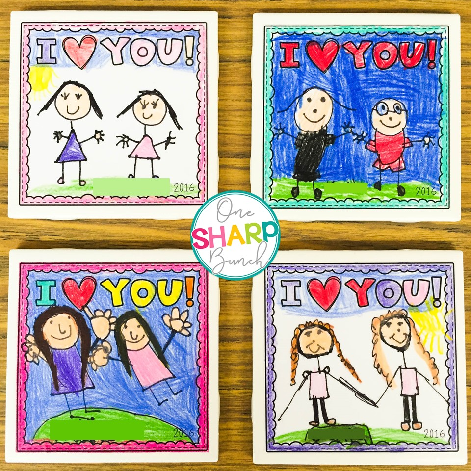 diy tile coasters make the perfect mothers day gift or fathers day gift from kids