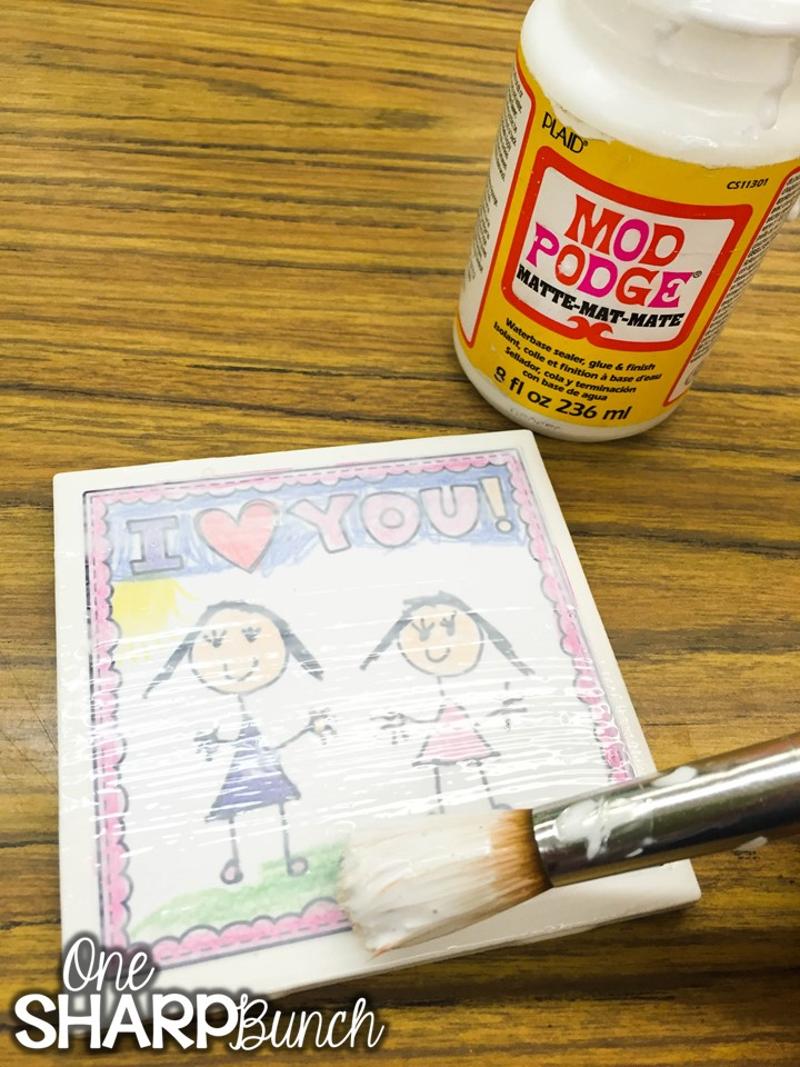 DIY tile coasters make the perfect Mother's Day gift or Father's Day gift from kids! Grab the FREE Mother's Day printable to begin making your Mother's Day craft! Also includes a Father's Day printable and generic printable perfect any other special person!