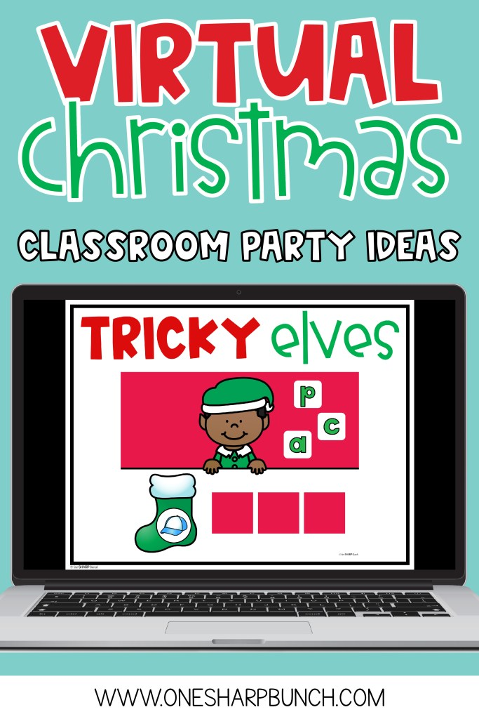 With a mix of remote learning, in-person instruction and hybrid learning, teachers are getting creative with keeping their virtual learning students engaged during the holiday season. Finding virtual Christmas games and virtual Christmas activities that are the perfect balance of educational and fun can be a challenge. Here's a list of my favorite virtual classroom Christmas party ideas that will help put your little learners in the holiday spirit even from a distance! #virtualchristmasparty