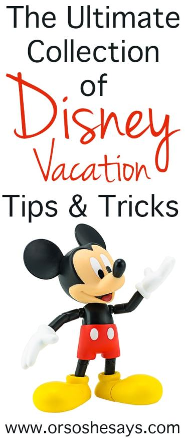 Disney Vacation Tips and Tricks