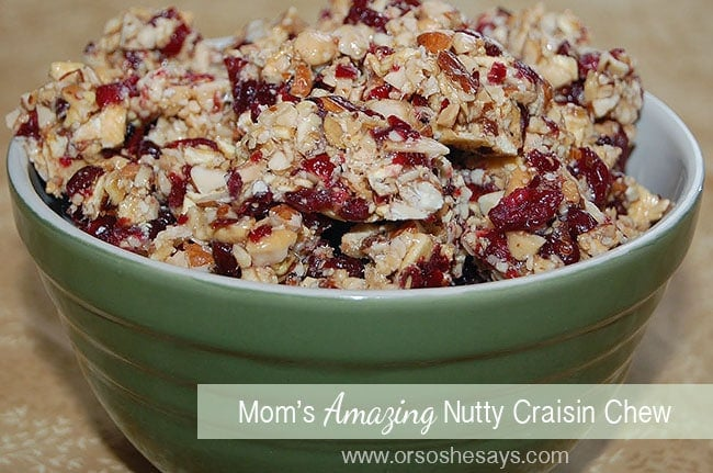 Nutty Craisin Chew ~ An AMAZING snack and great gift for neighbors!!