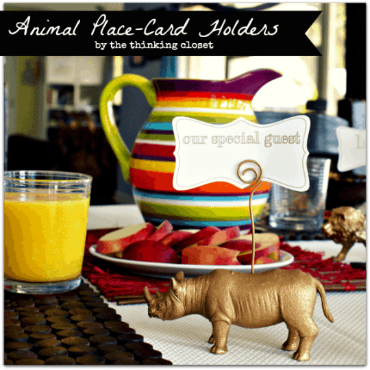 Gold Animal Place-Card Holders by The Thinking Closet