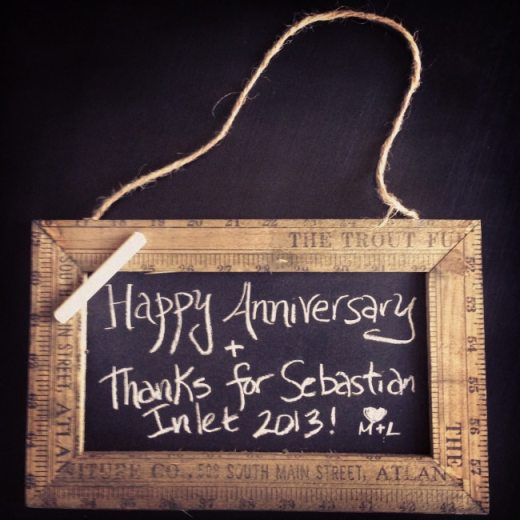 The original ruler frame chalkboard from Carla Gizzi.