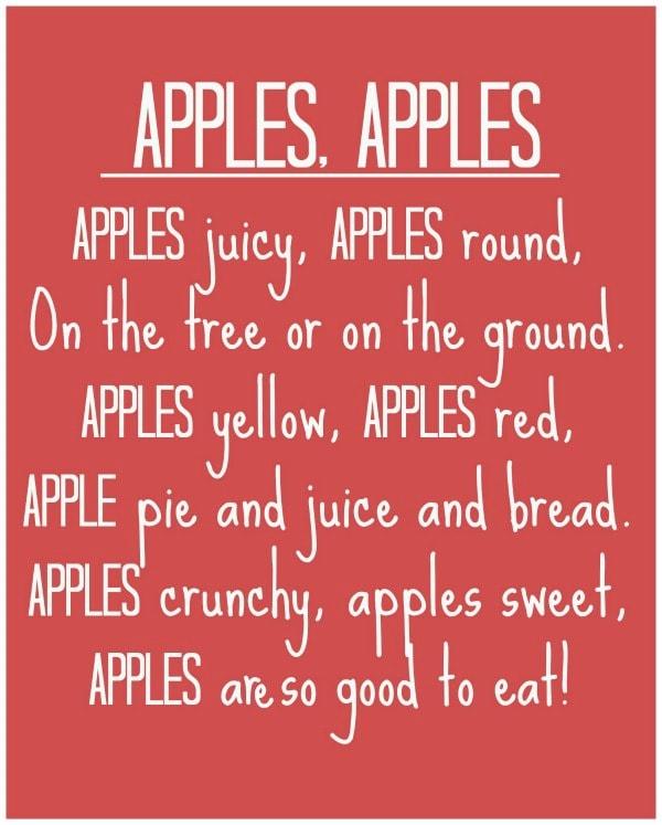 Apples, Apples Poem