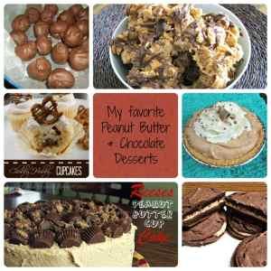 PB& Chocolate desserts