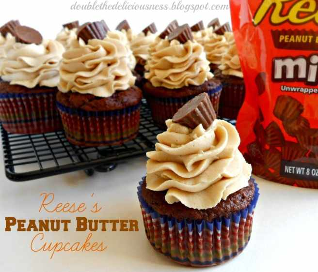 resse's peanut butter cupcakes
