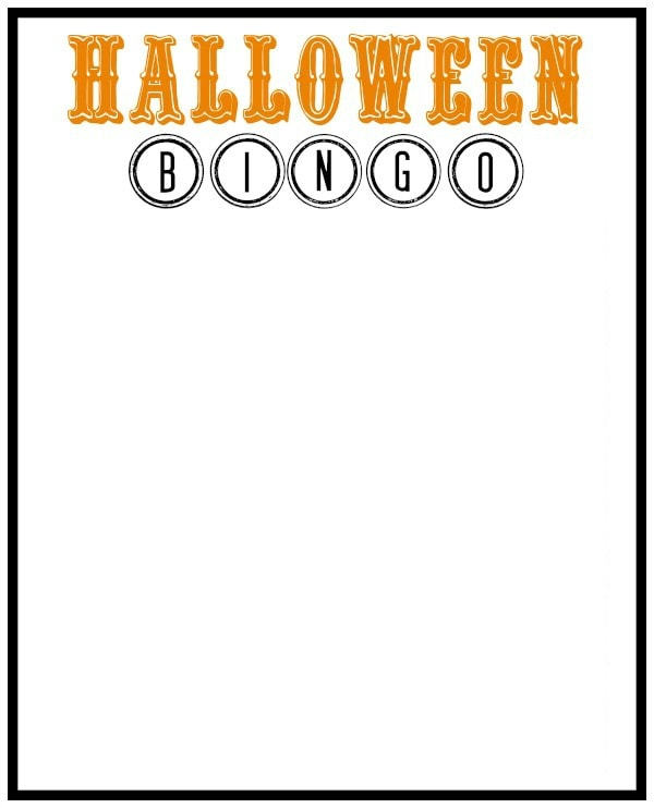 OSSS Halloween BINGO Blank