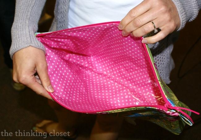 Laminated Fabric on an Origami Bag via thinkingcloset.com