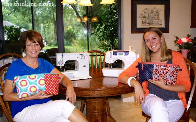 Proud Sewists with our Amy Butler Origami Bags via thinkingcloset.com