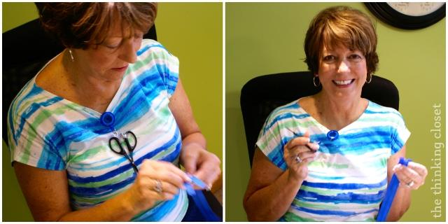 A scissor fob ensures you don't lose track of your scissors!  via thinkingcloset.com