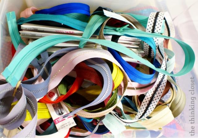 Choosing a zipper for my Origami Bag via thinkingcloset.com
