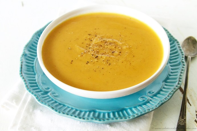 Butternut Squash Soup by www.whatscookingwithruthie.com