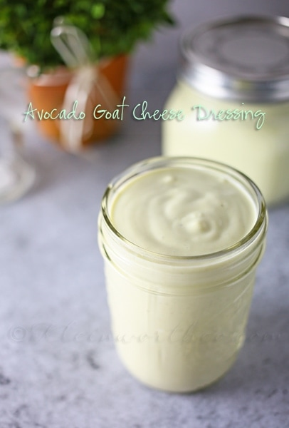 Avocado Goat Cheese Dressing from Kleinworth & Co.
