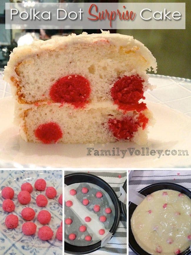 Polka Dot Surprise Cake