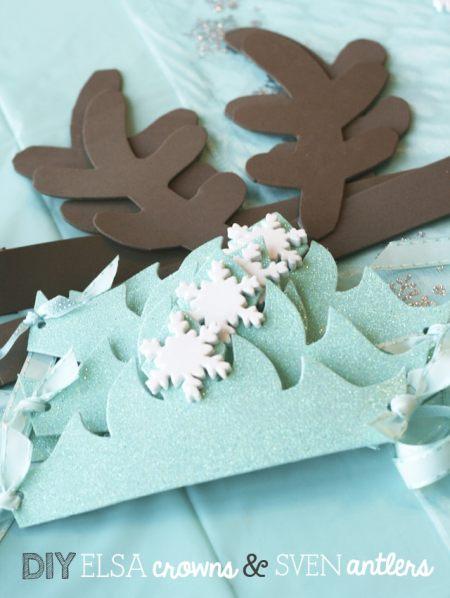 DIY-Elsa-crowns-and-Sven-antlers