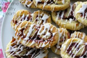 valentine pastry hearts