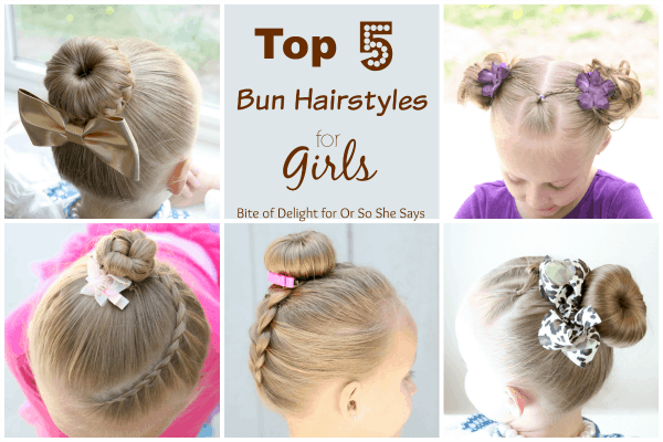 Top 5 Bun Hairstyles | Hair Tutorial | Little Girl Hairstyles