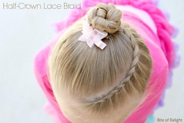 Half Crown Lace Braid | Hair Tutorial | Little Girl Hairstyles