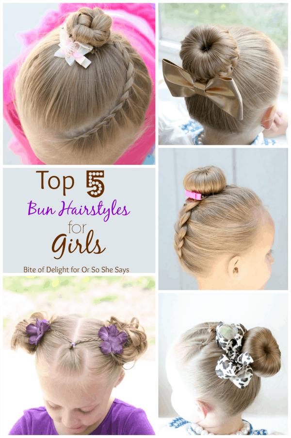 Top 5 Bun Hairstyles for girls