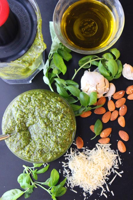 Homemade Pesto - quick, easy, and fresh!