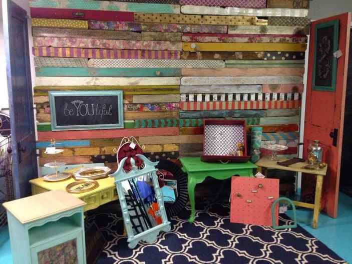 Patterned Pallet Wall