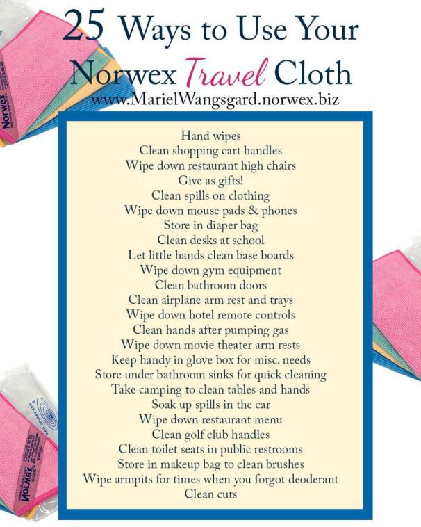 25 Ways to Use Travel Cloth