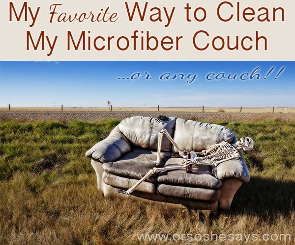 Favorite Way to Clean Microfiber Couch with Norwex EnviroCloth