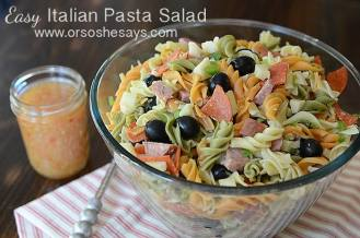 Easy Italian Pasta Salad- Such a Simple Crowd-Pleaser!