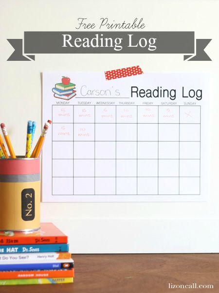 reading log printable