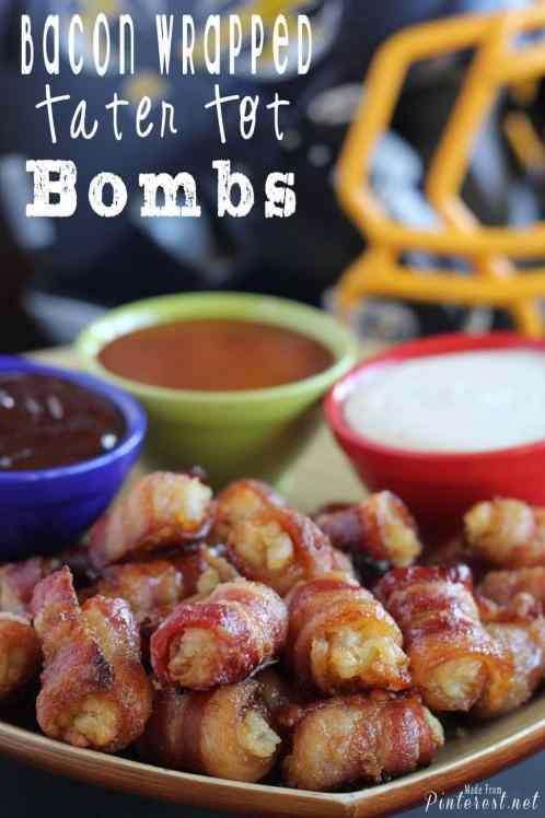 bacon wrapped tator tot bombs