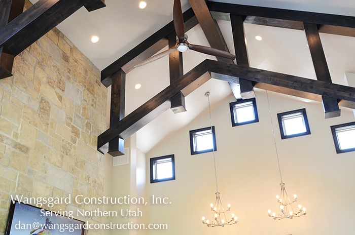 Awesome ceiling! Lots and lots of finish carpentry ideas from Mariel's husband, a Utah finish carpenter!