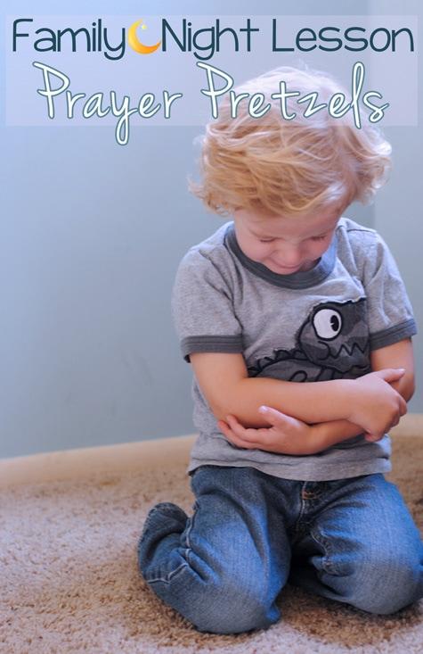 Teaching Prayer Pretzels for Family Night