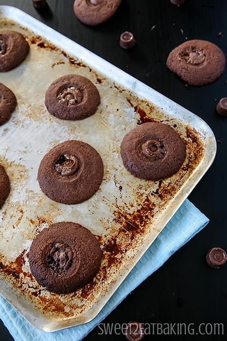 Chocolate Rolo Cookies by Sweet2EatBaking.com