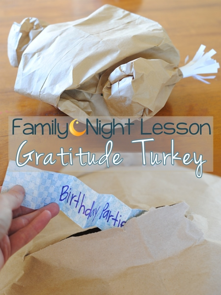 Thanksgiving Family Night Idea - An interactive way to get the kids to focus on their blessings.
