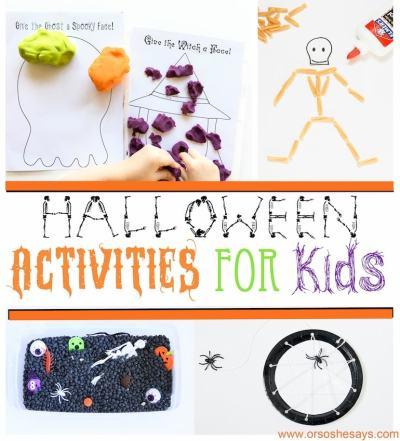 Education Halloween activities for kids!