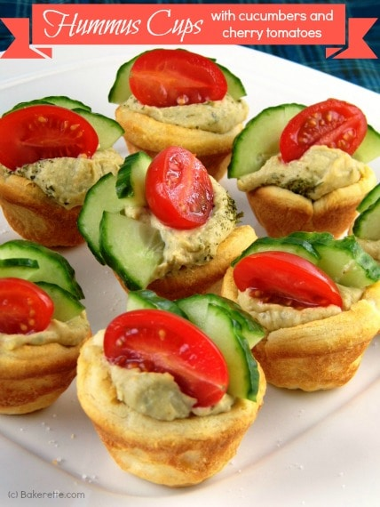 Quick and Easy Hummus Cups by Bakerette