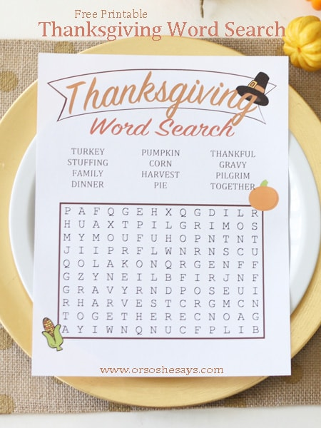 Breathtaking image inside printable thanksgiving word searches