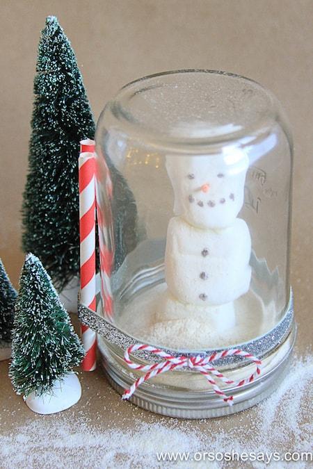 Hot Chocolate Snow Globe - Or So She Says