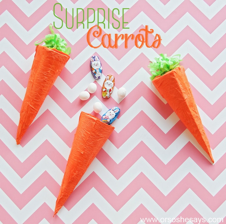 Surprise Treat Carrots - Perfect for Easter!