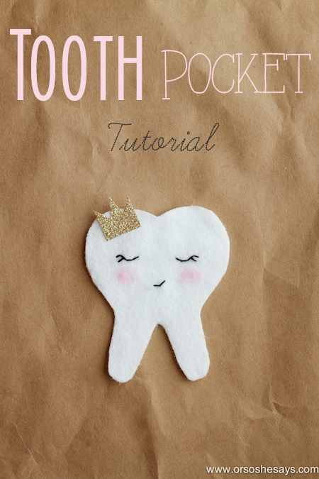 Tooth Fairy Ideas - A Tooth Pocket Tutorial for saving those lost teeth under the pillow!