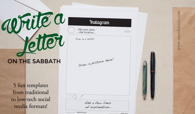Sabbath Activities - Write a letter on the Sabbath with one (or all!) of these fun templates!