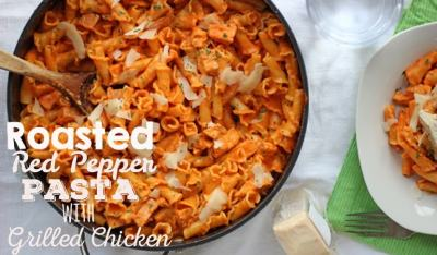 Roasted Red Pepper Pasta - With or Without Chicken