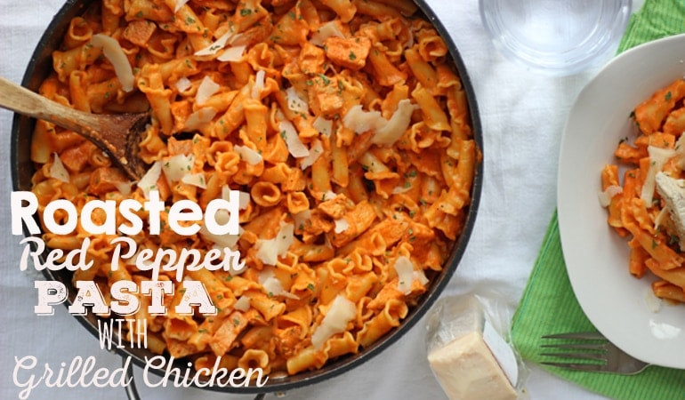 Roasted Red Pepper Pasta with Grilled Chicken (18) feature OSSS 2