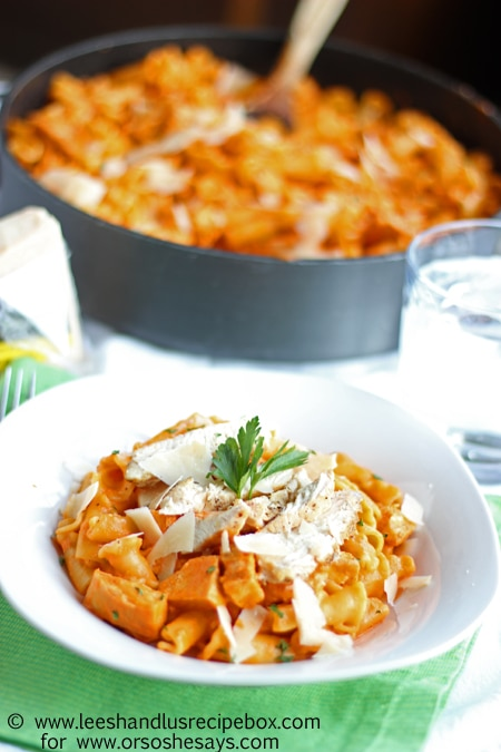 Roasted Red Pepper Pasta with Grilled Chicken (7) OSSS
