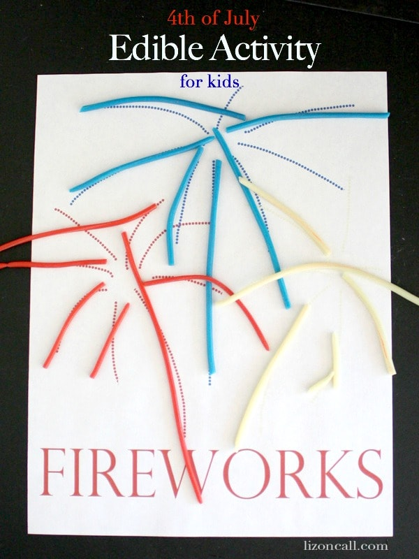 Free printable edible activity to do with the kids for the 4th of July at lizoncall.com