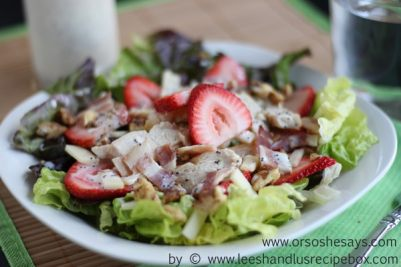 Summer Strawberry Salad with Grilled Chicken (4) OSSS